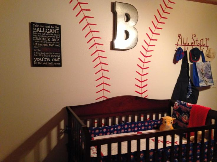Metal B From Hobby Lobby Baseball Painted Wall All Star