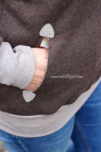 Ecken der Tascheneingriffe aus SnapPap