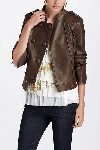 Duple Leather Jacket #anthropologie