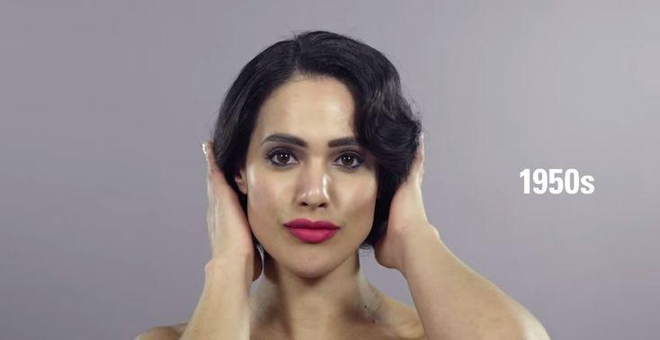 Уникално видео описващо женската красота през последните 100 години!