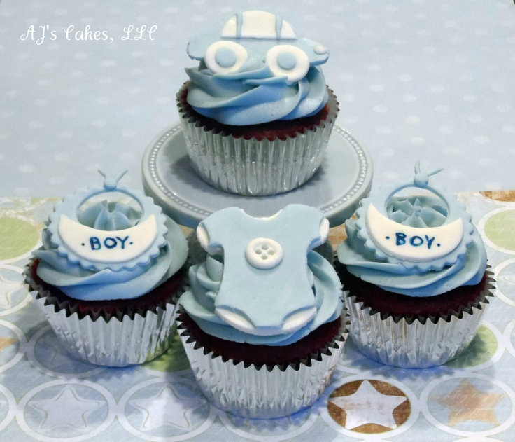 Baby Boy Shower Cupcakes Areinsbach.blogspot.com