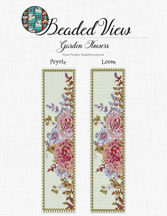 Garden Flowers Watercolor Peyote and Loom Bead Pattern Miyuki Delicas (size 11) Dimensions: 1.54in x 6.82in inches Colors: 11 This pattern includes both Loom or Square stitch and Peyote stitch. You are buying a pattern in PDF format. The file will be directly downloadable through Etsy. My patterns do not include instructions for loom beading, square or peyote stitch. Pattern includes: Color image of the pattern which can be zoomed. Bead legend with the color, name, number and quantity of...