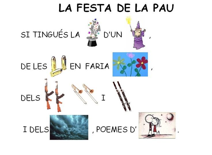 Poema: La festa de la Pau
