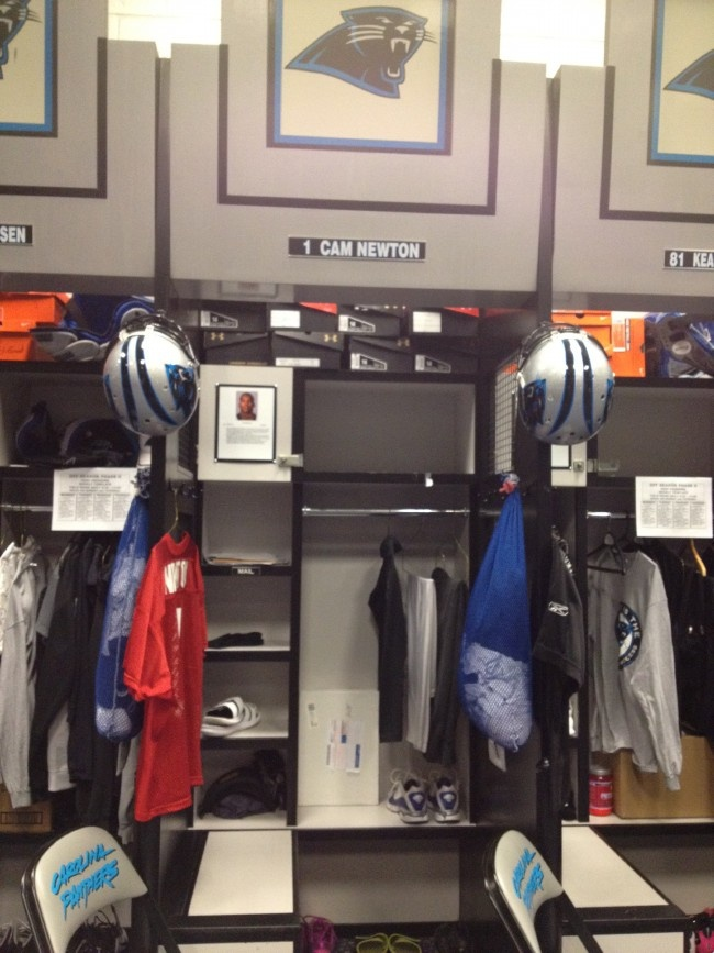 A look inside Cam Newton's Locker. #Panthers