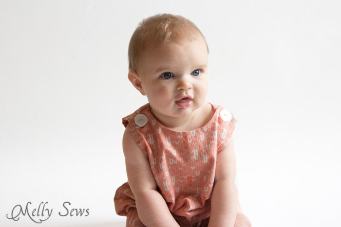 The cuteness! Baby boy romper pattern - FREE - with a VIDEO tutorial as well as pictures - Melly Sews