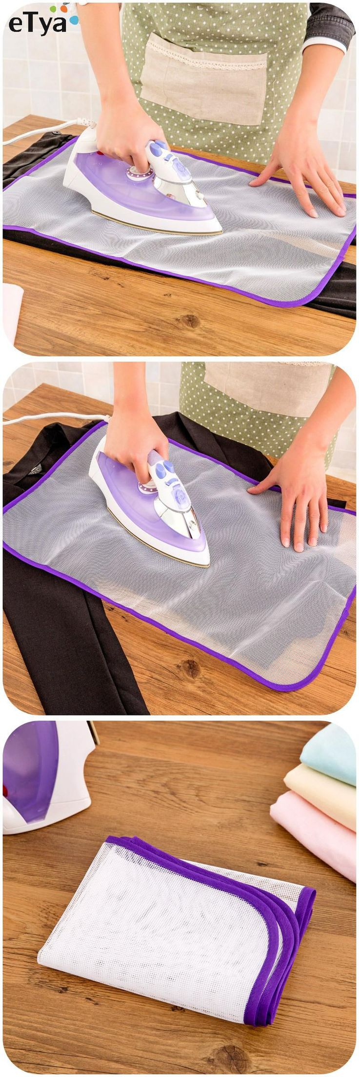 [Visit to Buy] Ironing Protection Cloth Foldable Mesh Pad Protective Insulation Against High Temperature Anti-scald Household Ironing Mat Tool #Advertisement
