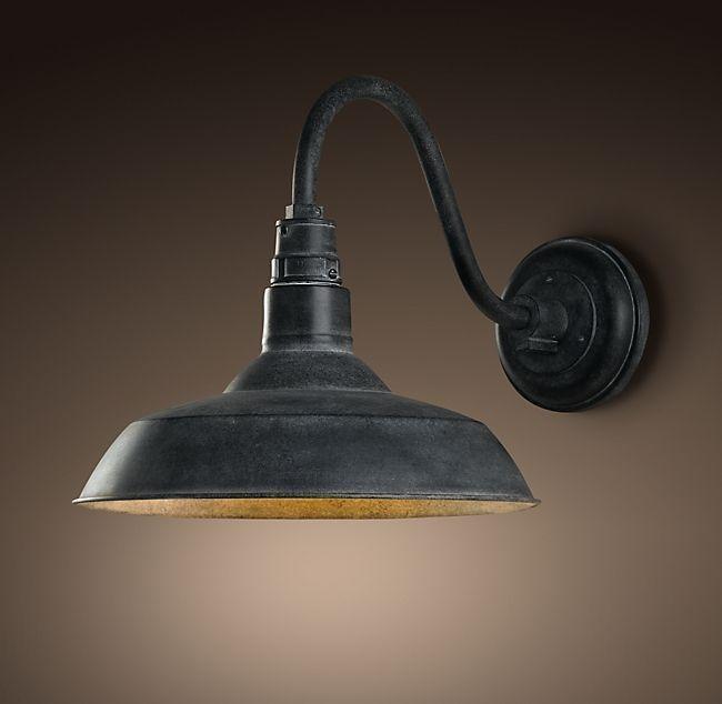 Schöne Vintage Scheune Leuchter Beleuchtung, Terrakotta