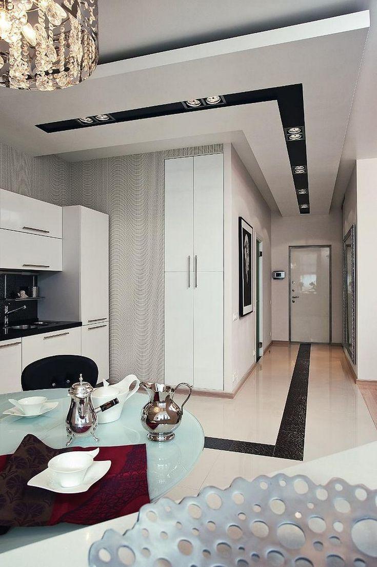 Világos, hangulatos, 60m2-es lakás modern lakberendezéssel, tolóajtókkal elválasztott hálószobával