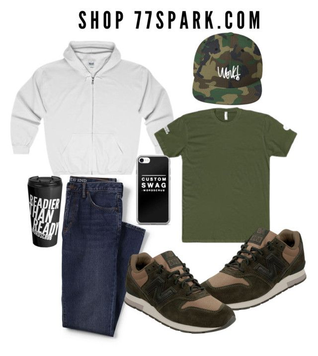 """What a man! By 77 Spark"" by peggyburgos on Polyvore featuring Lands' End, New Balance, men's fashion and menswear"
