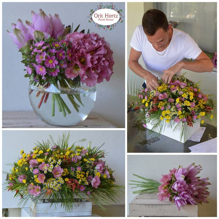 Orit Hertz - Floral Design School Floral Private lesson to Yahav Green - Event Designer www.oh-flowers.com