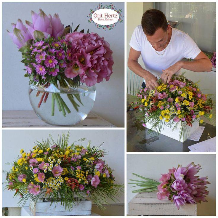Orit Hertz - Floral Design School Floral Private lesson to Yahav Green - Event Designer www.oh-flowers.com