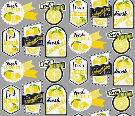 Julie's Lemonade Labels fabric by juliesfabrics on Spoonflower - custom fabric http://www.spoonflower.com/fabric/2236459