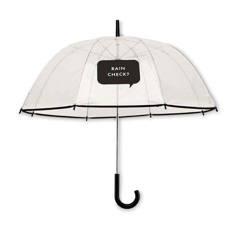 """Kate Spade Clear Umbrella - """"Rain Check"""" – Heart & Home"""