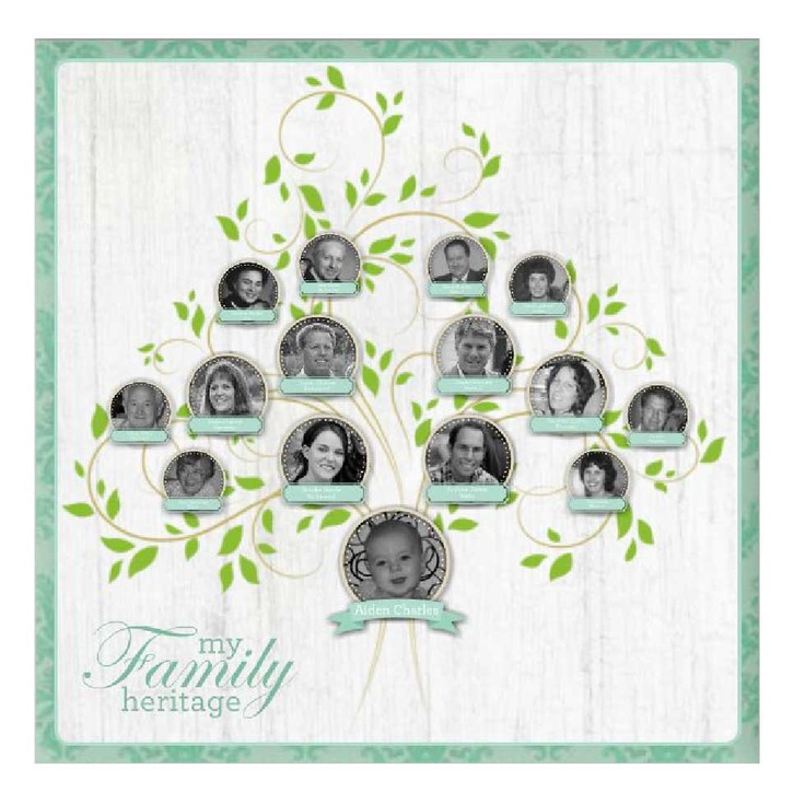 A wonderful 20 x 20 wrapped canvas #family heritage #DIY #digiscrap project with Heritage Makers template 105954