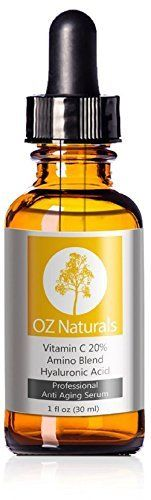 OZ Naturals THE BEST Vitamin C Serum For Your Face Contains 20% Vitamin C + Amino Complex + Hyaluronic Acid Serum- Potent 20% Vitamin C with 5% Hyaluronic Acid Leaves Your Skin Radiant & More Youthful By Neutralizing Free Radicals. This Anti Aging Serum Will Finally Give You The Results You've Been Looking For. by OZ Naturals, http://www.amazon.com/dp/B00DPE9EQO/ref=cm_sw_r_pi_dp_AtGNub0GN3A88