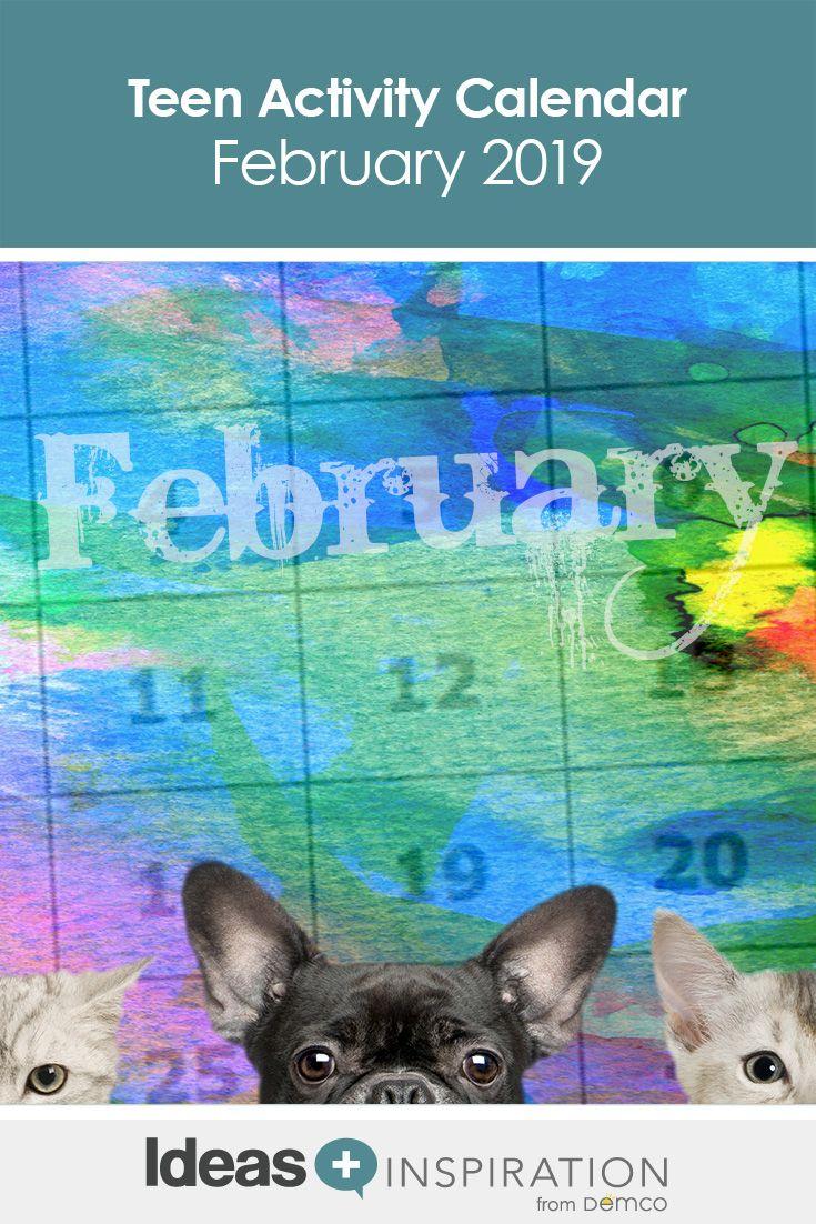 Book It Calendar February 2019 Teen Activity Calendar: February 2019 | Free Activity Calendars