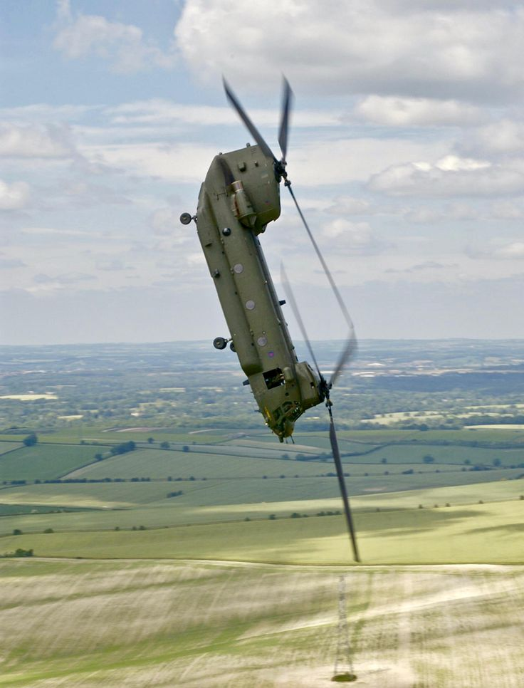 Boeing CH-47 Chinook. Just checking... All okay down there? [18002363]