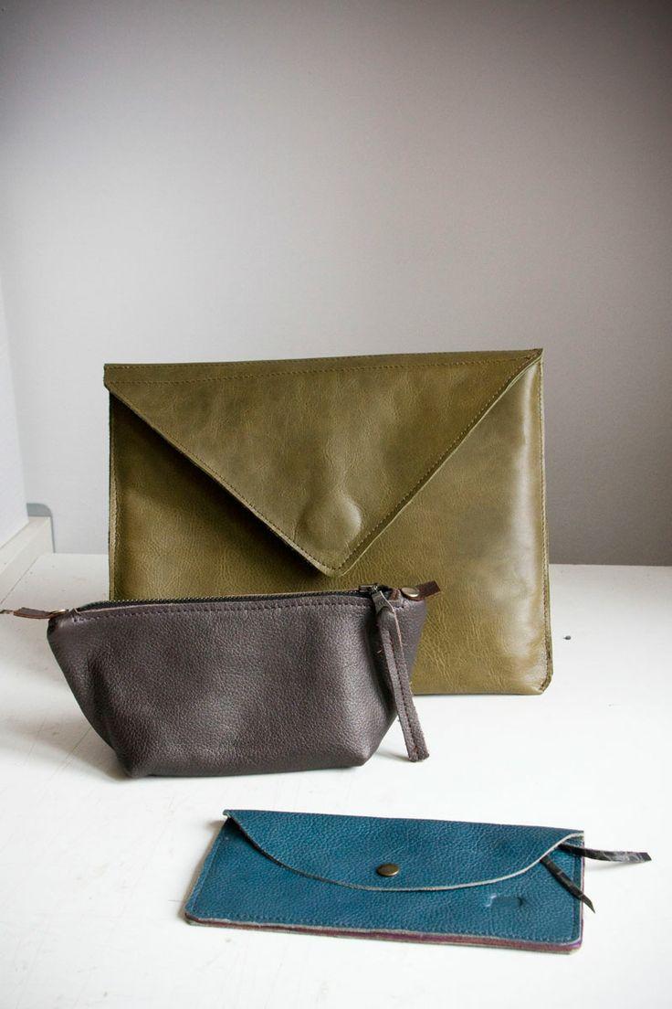 Pokrowiec na iPada+kosmetyczka+portfel #iPad #iPadcase #cosmeticbag #leatherwallet