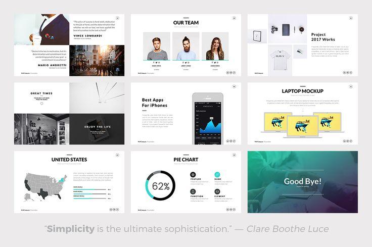 Wolf Minimal Keynote Template by Slidedizer on @creativemarket