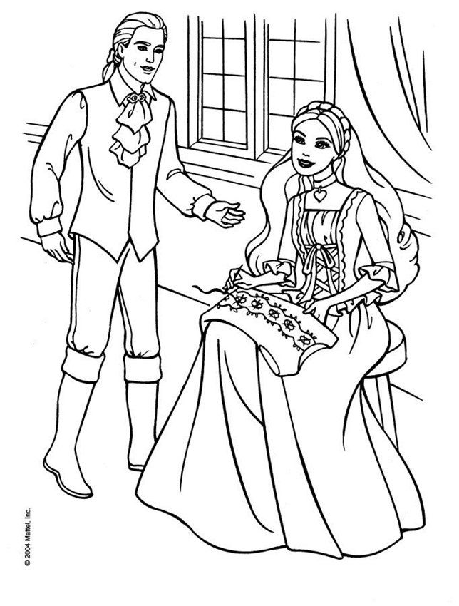 331 best images about Barbie colouring Page on Pinterest ...