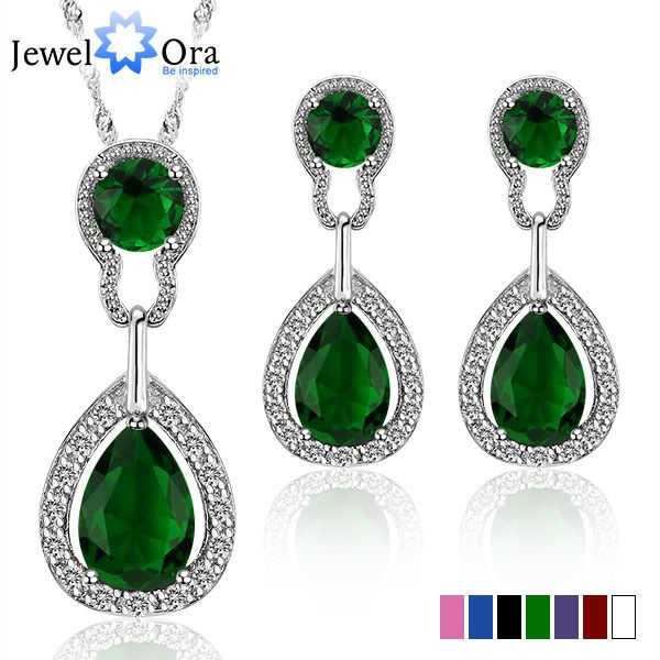 silver plated crystal Jewelry Sets US $6.95 See More: http://weddirect.co/products/silver-plated-crystal-jewelry-sets/