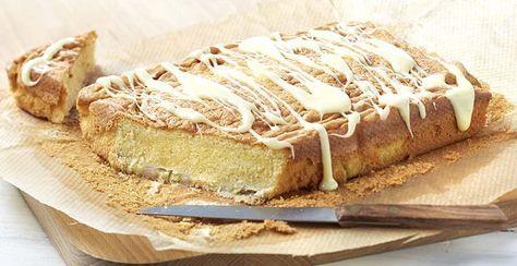 Cake met banaan en witte chocolade