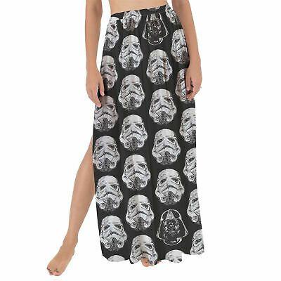 Vader & Storm Trooper Helmets Star Wars Inspired Maxi Sarong Skirt #fashion #clo…