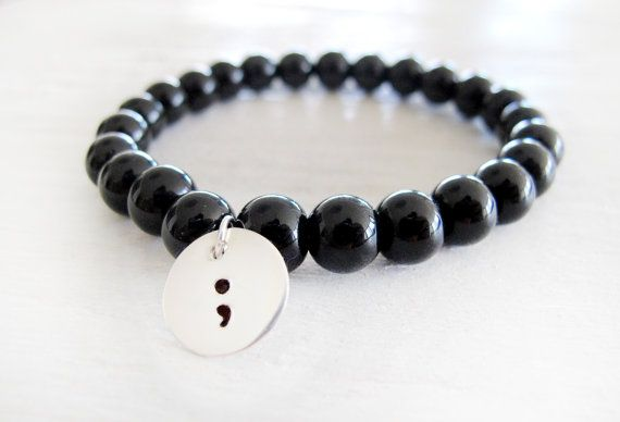 Beaded Semicolon Bracelet Project Semicolon by SaltyKissesHawaii