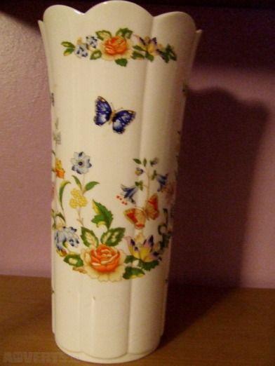 "Vintage Aynsey Vase - Cottage Garden Design - 1970's Fine Bone China vase,  ""Mayfair"" style with t..."