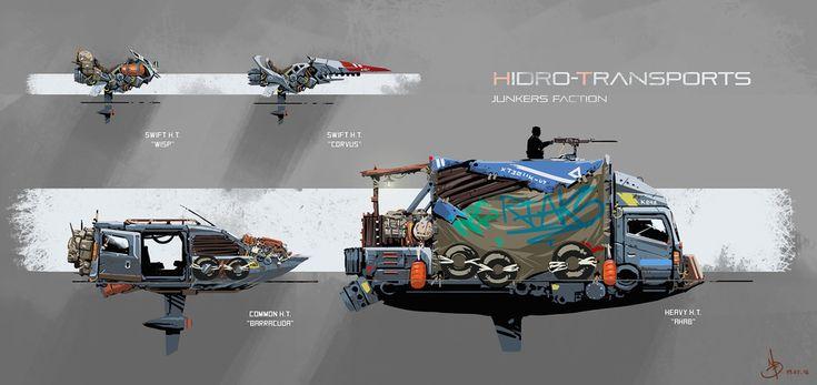 Hidro-Transports by Ignacio Felechosa | Illustration | 2D | CGSociety