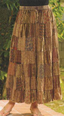 Broomstick Patchwork Skirt