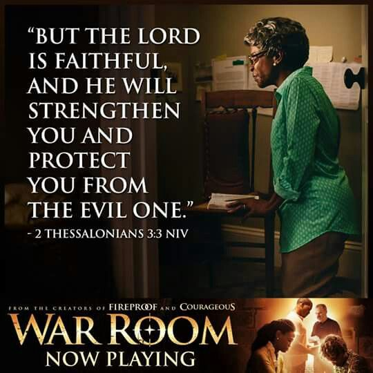 "But the Lord is faithful and He will strengthen you and protect you from the evil one. 2 Thessalonians 3:3 Amen #WarRoom {JEREMY CAMP ""I STILL BELIEVE"" https://www.youtube.com/watch?v=R4qPceadBMU }"