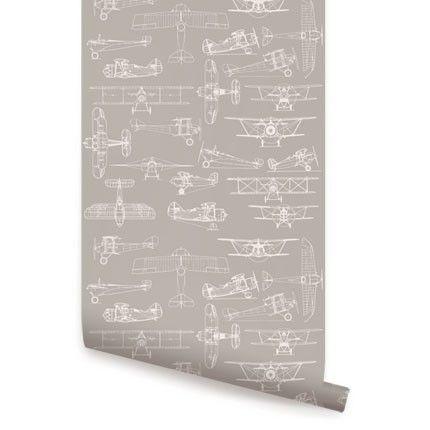 Warm Grey Airplanes Wallpaper