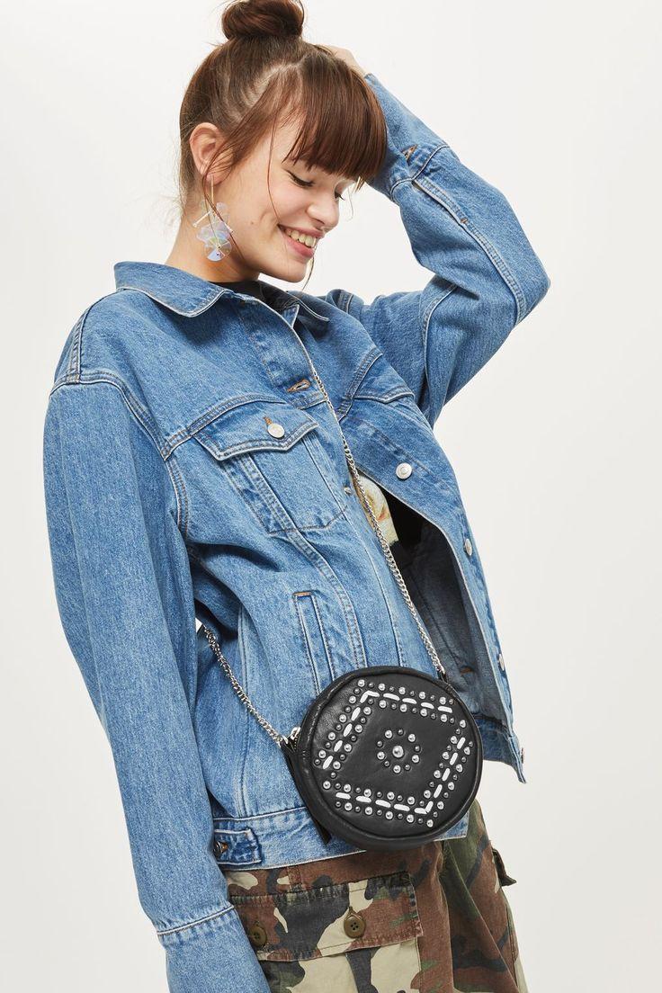 Leather Circle Cross Body Bag