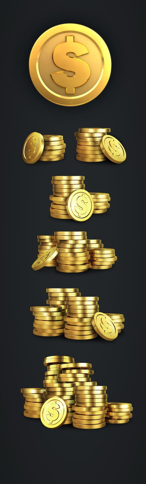 Set of coins for a Slots game on Behance game design coins slots ui ux: