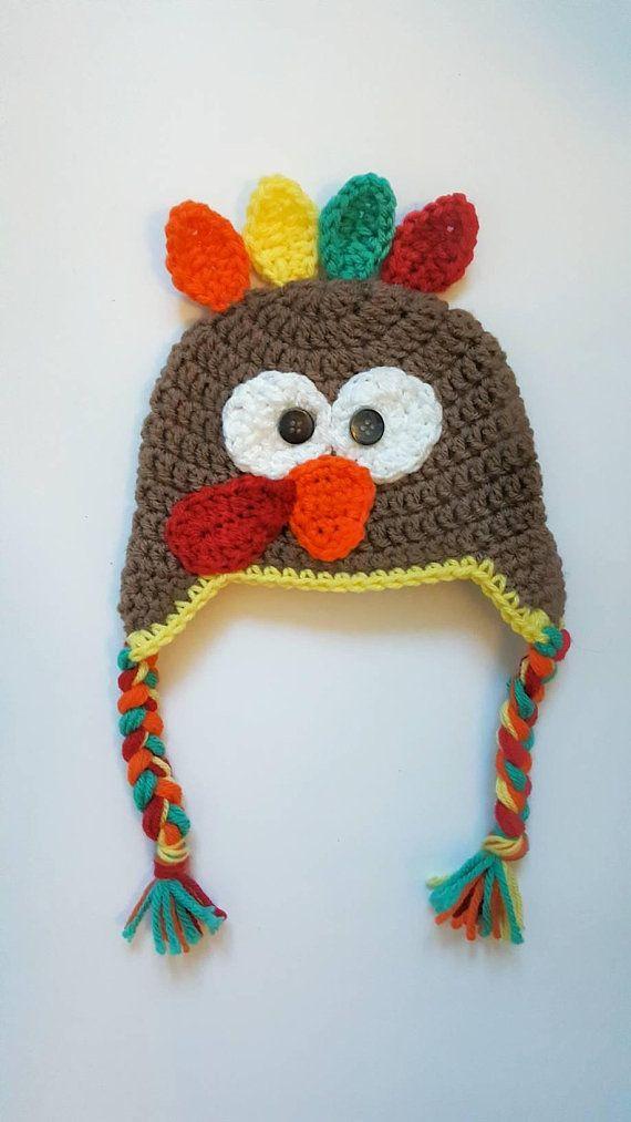 Crochet Newborn Turkey Hat Baby Turkey Hat Newborn Etsy Crochet Animal Hats Newborn Crochet Turkey Hat