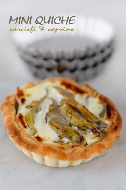 Mini quiche carciofi & caprino