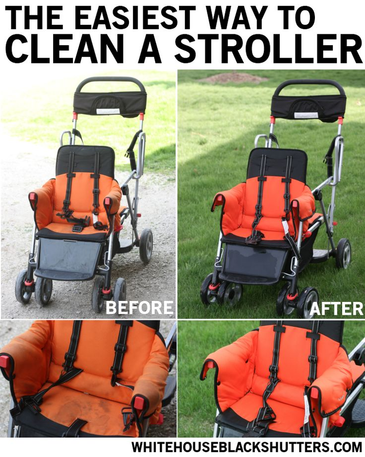 The easiest way to clean a stroller. Takes 15 minutes! via @Ann Flanigan Marie // white house black shutters