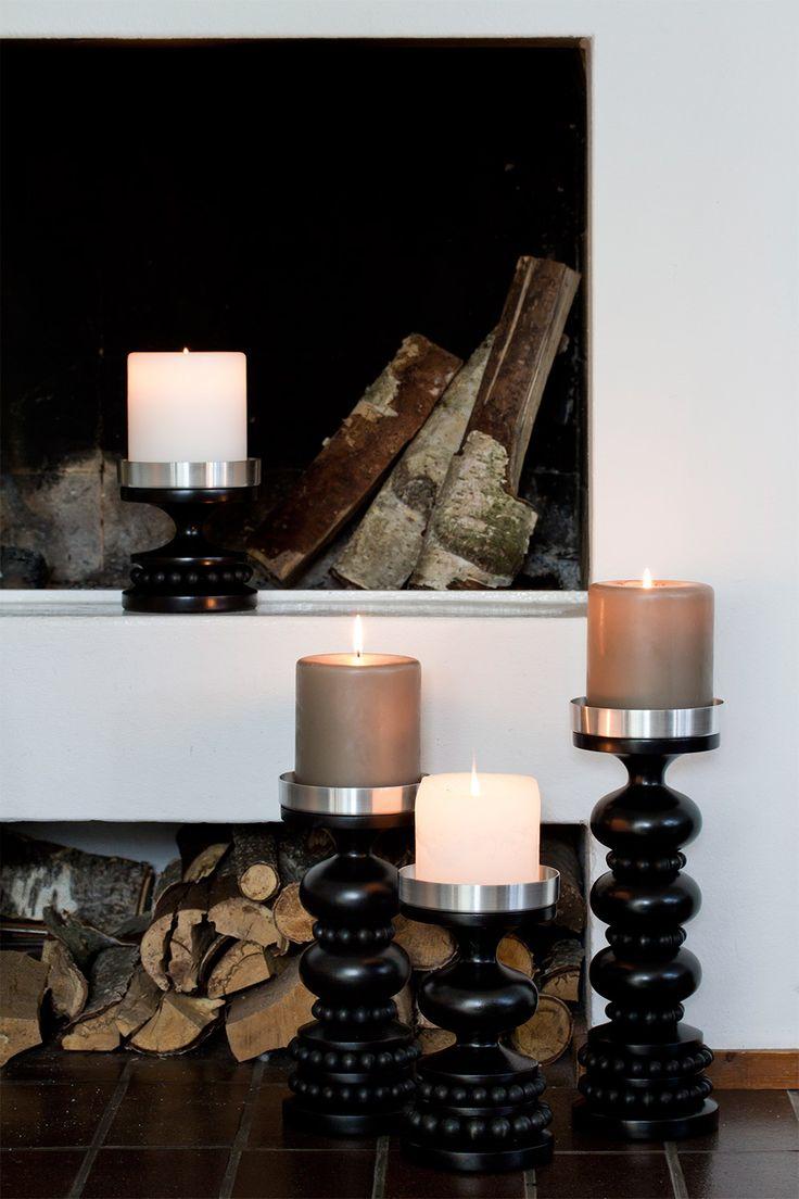 Black candle holders - Aarikka home decor
