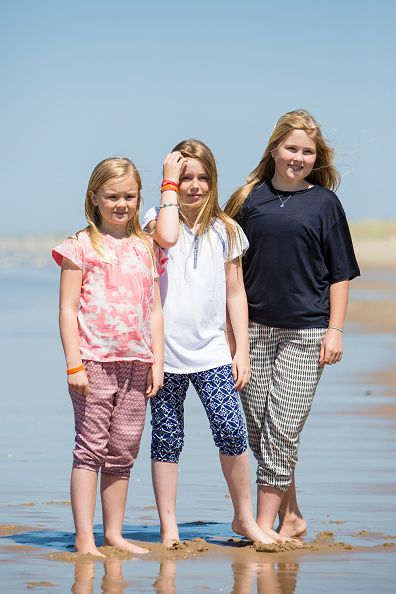 (L-R) Princess Ariane, Princess Alexia and Crown Princess Amalia of The Netherlands pose for pictures on July 10, 2015 in Wassenaar, Netherlands.