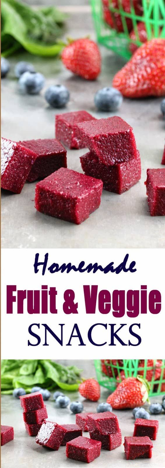 Homemade Fruit and Vegetable Snacks | Recipe (With images ...