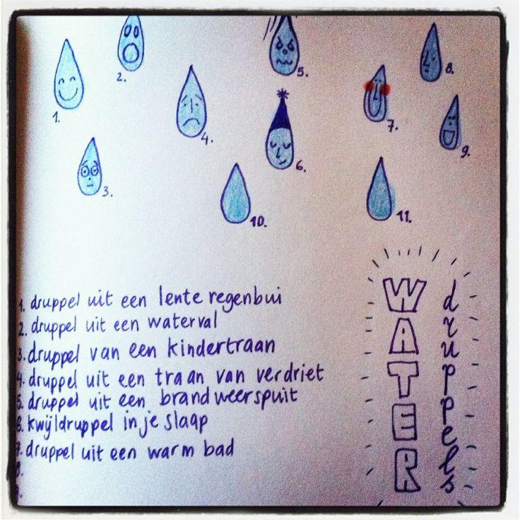 Een droedel schets van waterdruppels voor de lol...