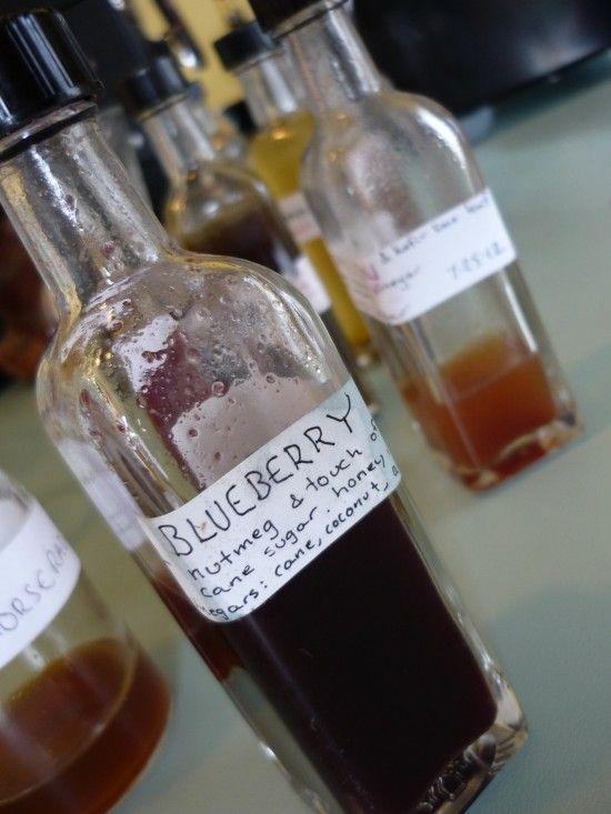 Drinking vinegars (aka shurbs). A syrup made of cider vinegar, sugar, and fruit/veggies.