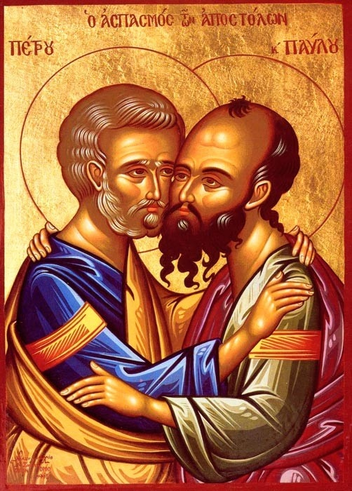 wonderful icon of Holy Apostles Peter and Paul