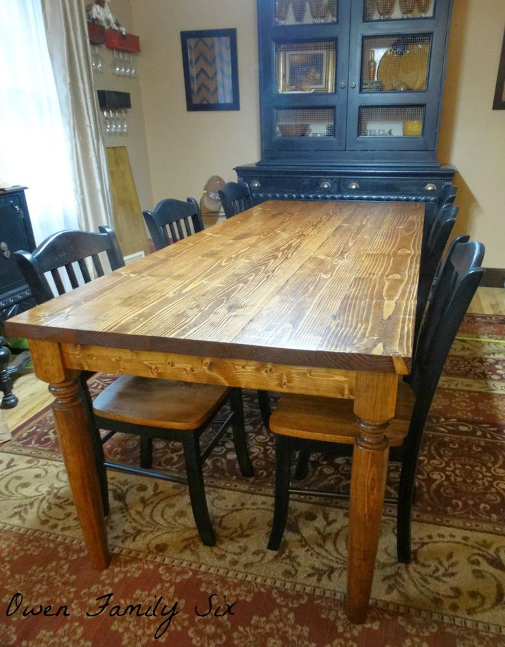 Owen family six diy rustic table home renovation for Table 52 reservations