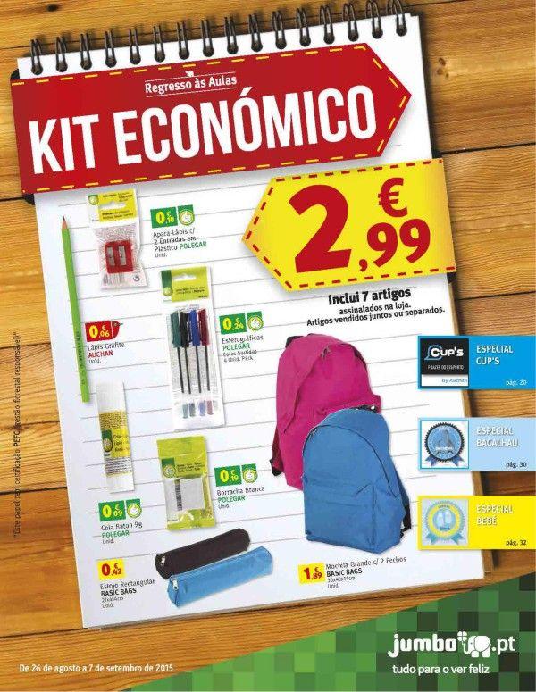 Regresso às aulas Kit Económico 26/08/2015 a 07/09/2015 Jumbo