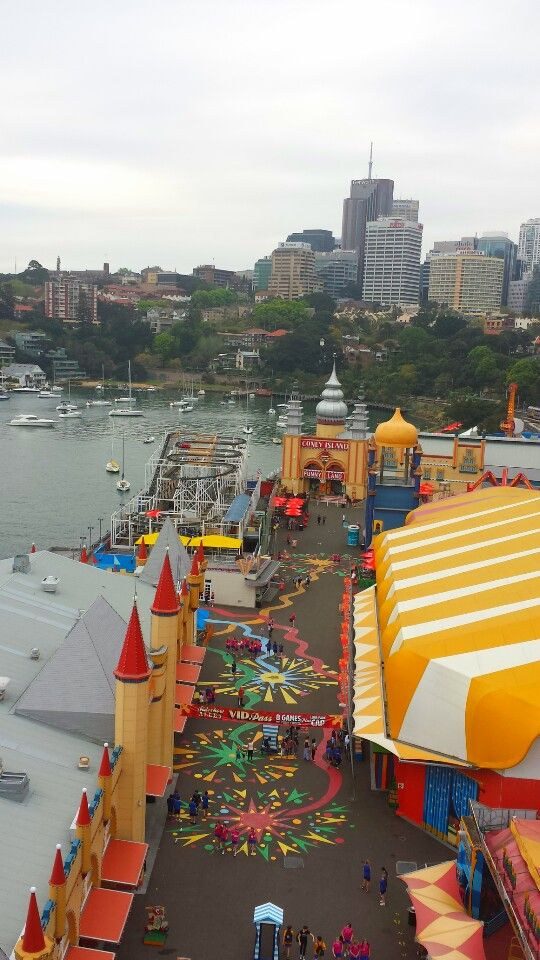 Great view of Lunar Park from the Ferris wheel...Sydney, Australia