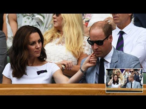 Kate Middleton and Prince William VERY Love Up as They Watch Roger Federer at Wimbledon - YouTube