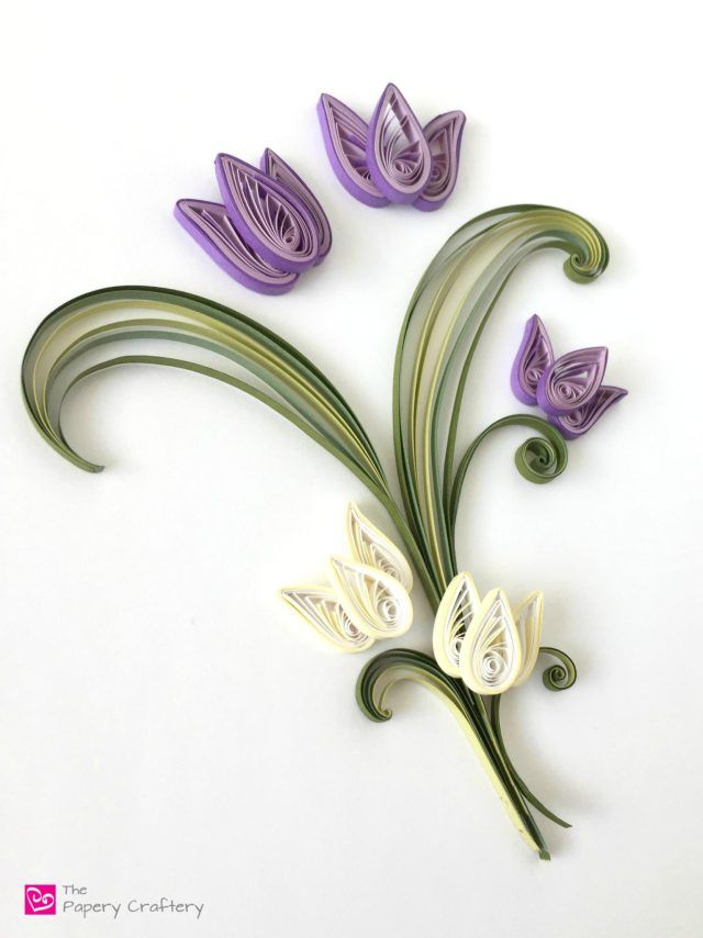 How to Make Quilling Paper Scrolls || www.thepaperycraftery.com