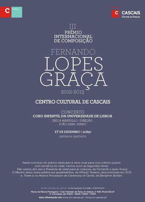 III Prémio Internacional de Composição Fernando Lopes-Graça, Cascais, Portugal